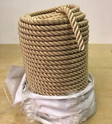 Polyester 3 Strand Rope Beige Dacron Sold By The Foot. 100and039 Minimum
