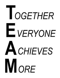 TEAM Together Everyone Achieves More Motivational vinyl wall art decal sticker