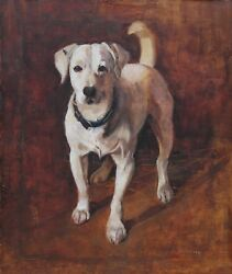 SAMUEL FULTON WWI DOG HERO PORTRAIT TERRIER PAINTING BRITISH ART 1848-1930