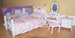 New Gloria Doll House Furniture Victorian Beauty Bedroom 2319