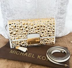Rare Limited Edition Michael Kors Studded Leather Gia Clutch