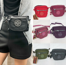 Belt Waist Cross Shoulder Canvas Zipper Mini Purse $12.99
