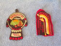Vintage 70's Boy Scouts Of America Amaquonsippi Trail Patch Set