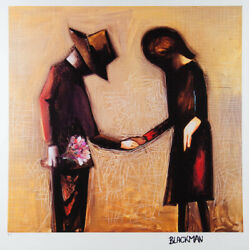 Charles Blackman And039the Meetingand039 Large Limited Edition Signed Fine Art Print
