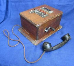 Rare Vintage Russian switchboard phone Wooden body 1949 year