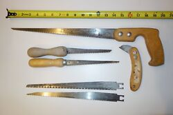 Vintage Keyhole Saw, 2 Drywall Hand Saws, Backer Board Scoring Knife And 2 Blades