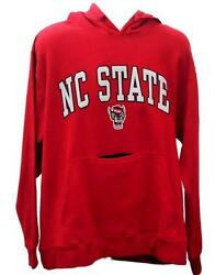 New Ncaa North Carolina Nc State Wolfpack Red Embroidered Sweatshirt Large L