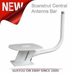 Scanstrut Central Antenna Bar│Coated│No Drill│Fit Power Tower (1x14 TPI Thread)