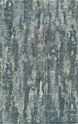 Momeni Rugs Millnmi-14gry2380 Millenia Collection 100 Viscose Hand Tufted Ar...