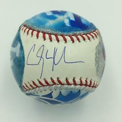Rare Clayton Kershaw Signed Hand Painted Art Baseball Steiner And Mlb Authentic