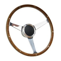 16 Wood Boat Marine Steering Wheel With Adapter 3 Spoke Boats With 3/4 Marine