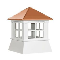 Cupola 16 Vinyl Cupola With Window Copper Metal Hipp Roof Shed Cupola