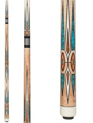 Pechauer Pro Series P23-hc Crown Jewels Pool Cue W/ Free Case And Free Shipping