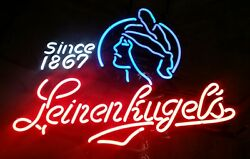 Leinenkugel Indian Maiden Beer Neon Lighted Sign Awesome