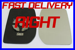 Ford Transit Pick Up 2000+ Door Wing Mirror Glass Heated Right Clip On