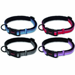 Halti Premium Strong Adjustable Reflective Dog Collar Black Red Blue Purple XS-L