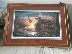 Golden Retreat Framed Print By Terry Redlin Ducks Unlimited 50th Anniversary