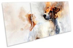 Jack Russell Terrier Dog Picture CANVAS WALL ART TREBLE Print