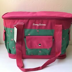 Tommy Bahama Insulated Tote Cooler Bag Picnic Beach Summer Flamingos Pink NEW