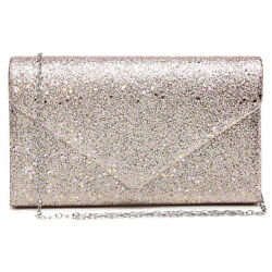 Dasein Womens Glistening Evening Bags Party Clutches Wedding Purses Cocktail $18.99