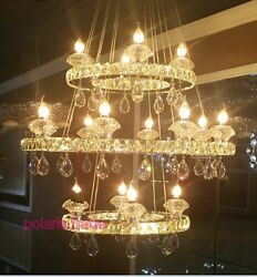 3 Tier Modern TOP Led Crystal pendant lamp Living Room Hall lobby ceiling Light