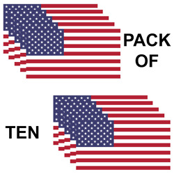 Usa American Flag Pack Of 10 Military Marines Army Window Decal Sticker Us