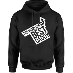 Worlds Best Daddy Funny Hoodie Mens Birthday Xmas Gift Novelty Hoody Father