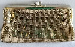 Gorgoeus Vintage Evening Mesh Whiting and Davis PouchClutch bag Kiss Lock