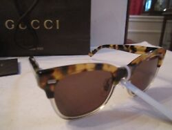 NEW GUCCI SUNGLASSES - 3747 3MQ 145 - TORTOISE DESIGN - IN THE CASE