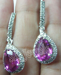 1.20ct Natural Round Diamond 14k Solid Whitegold Ruby Snap Closure Hoops Earring