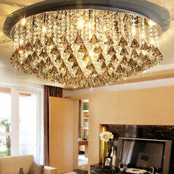 Crystal Chandelier Pendant Fixture hall Ceiling led lamp hang light home decor