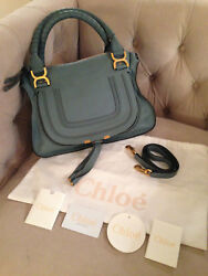 CHLOE MARCIE MEDIUM Satchel Crossbody Shoulder Bag - CLOUDY BLUE SO CUTE - NWT