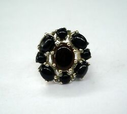 ethnic sterling silver ring black onyx gemstone ring handmade silver ring