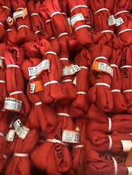 """Big Bundle Pipe Restraint 2"""" 15k Psi Red Nylon 2"""" 20',10',4' 10 Each Size Whip"""