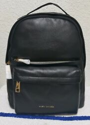 New $550 Marc Jacobs Varsity Pack Black Leather Large Women's Backpack