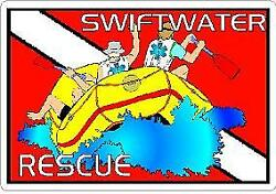 Swift Water Rescue Reflective Vinyl Decal Emt Ems Coast Guard Firefighter Diver