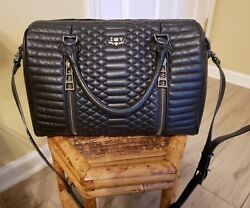 ZADIG & VOLTAIRE SUNNY QUILTED LEATHER MATELASSE BLACK BAG CROSSBODY MESSENGER