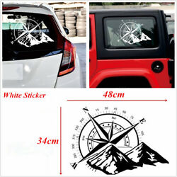 Car Off Road Suv Window Glass Hoods Body Side White Compass Totem Decal Sticker
