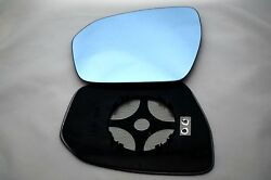 Land Rover Discovery 2014-on Wing Mirror Glass Heated Blue Convex Left