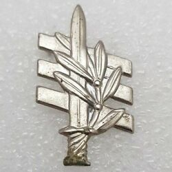 Israel Army Pin Idf Soldier Pin Officer Vtg White Metal