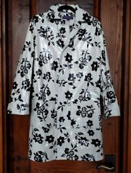 Polo Collection Purple Label Patent Leather Bandw Flower Coat Size 6
