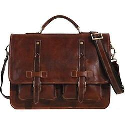 Cenzo Leather Backpack Messenger Bag Briefcase