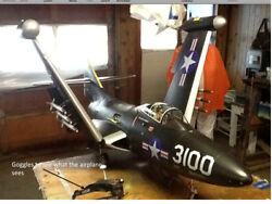 Radio Controlled F9F-2; turbine airplane--custom modified from PST shell