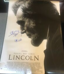 Steven Spielberg And Cast Signed Autograph Original Lincoln 27x40 Poster Beckett