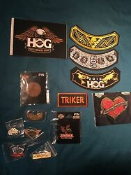 Large Lot Of New In Pkg. Harley Davidson, Pins, Patches , Sticker Hogs