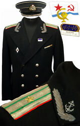 M59 Original Soviet Navy Officers Tunic+ Gift Cap Military Medical Service