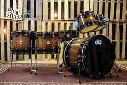 DW Collector's Series Set, Quick Candy Black Burst Over English Oak (video demo)