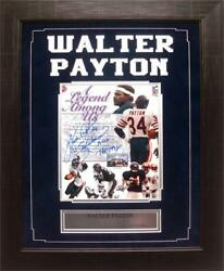 Encore Select 14x18 Autographed Frame - Walter Payton Chicago Bears