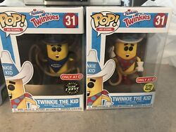 Funko Pop 31 Twinkie The Kid Glow Chase And Regular Target Exclusive In Case