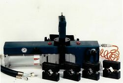 Pneumatic hose crimping machine and tooling to reverse engineer and manufacture